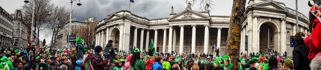 Dublin City Panoramic St. Patricks Day