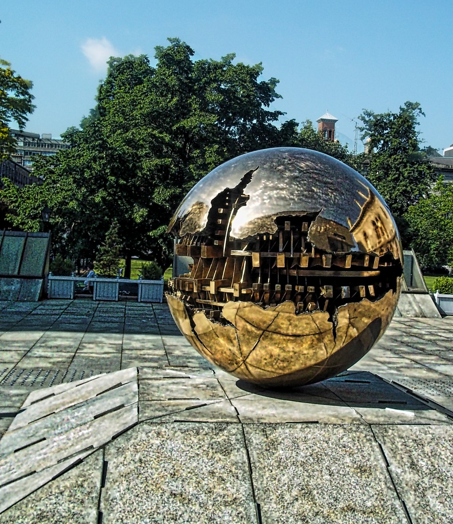 Trinity sphere within sphere dublin