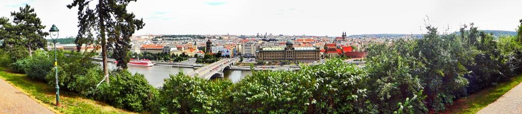 Letna Park pano Prague