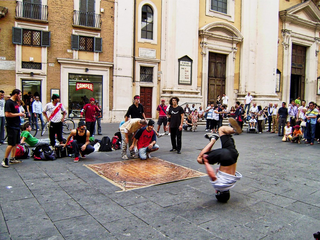 Break Dancing in Rome Italy
