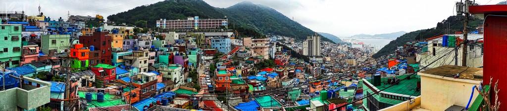 Gamcheon Culture Village Busan Korea Panorama