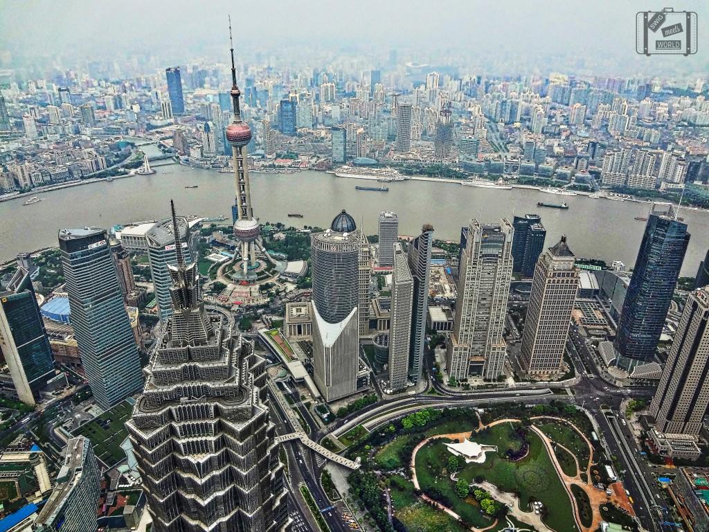 Top of Shanghai Financial Center