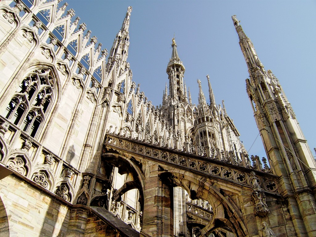 Top of Duomo Cathedral Milan