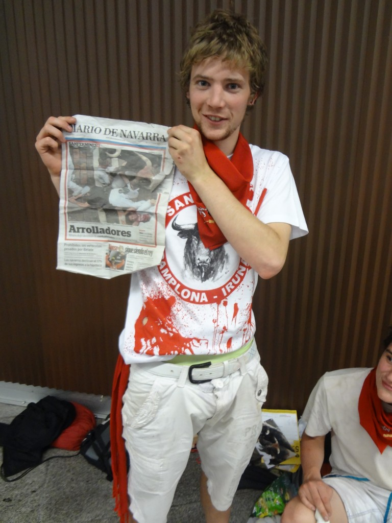 Running of the Bulls spain front news