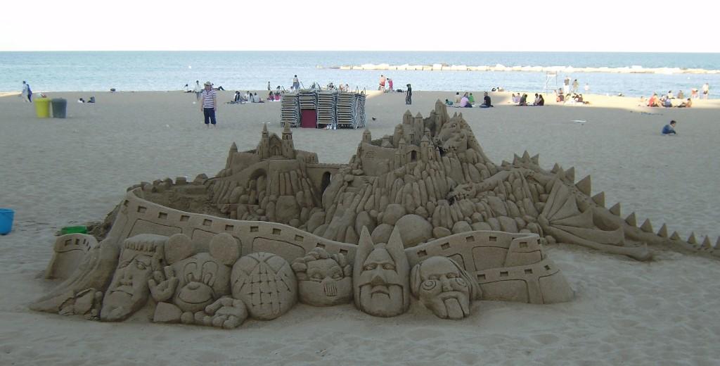 Sand Sculpture barcelona spain beach