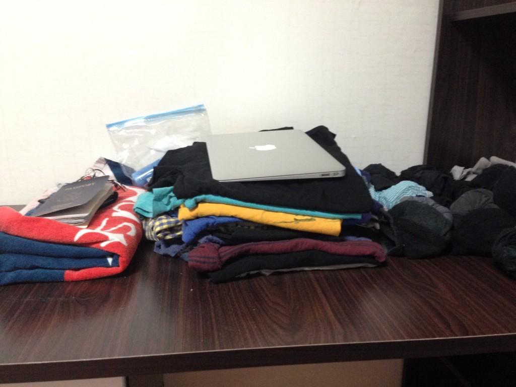 Backpacking travel list