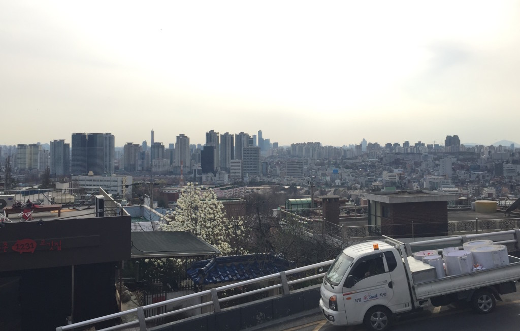 View from outdoor gym seoul