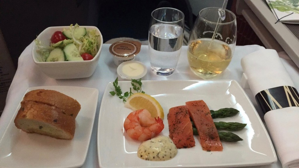Cathay pacific Food Review