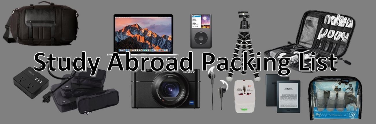 study abroad packing list